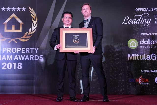 "Sagen honored to receive ""DOT PROPERTY VIETNAM AWARDS 2018"""